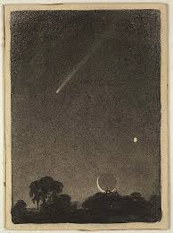 Halley's comet at dawn ,